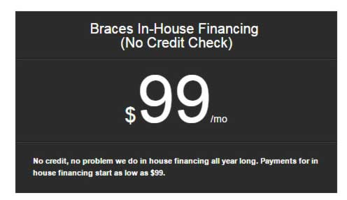 Braces in house financing
